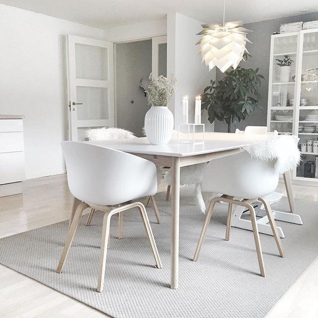 une d co scandinave pour la salle manger d coration blanc nordique maison appartement. Black Bedroom Furniture Sets. Home Design Ideas