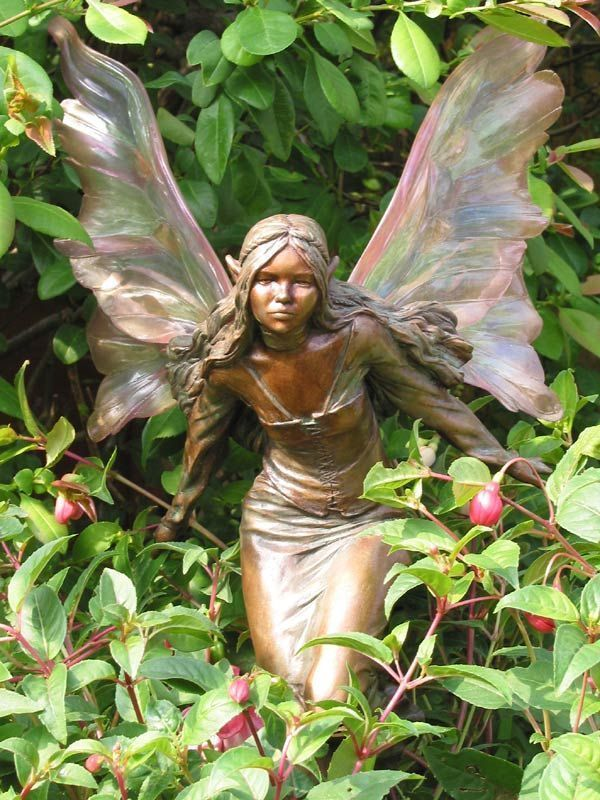 Amazing Fairy For The Garden Garden Ornaments Fairy Statues Fairy Garden Faeries Gardens