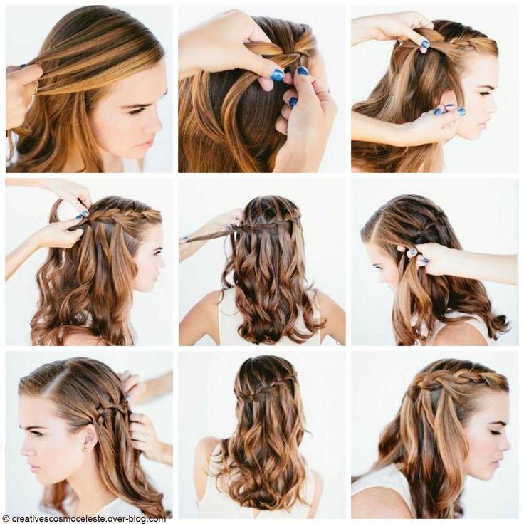 Tuto coiffure : se faire une tresse cascade en trois étapes - Elle