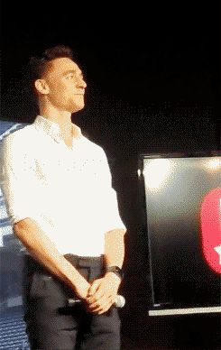 Tom Hiddleston gif.. WATCHING THIS OVER AND OVER SOMEONE STOP ME