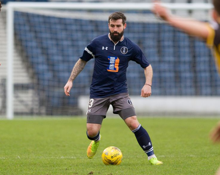 Queen's Park's Bryan Wharton in action during the Ladbrokes League One game between Queen's Park and East Fife.