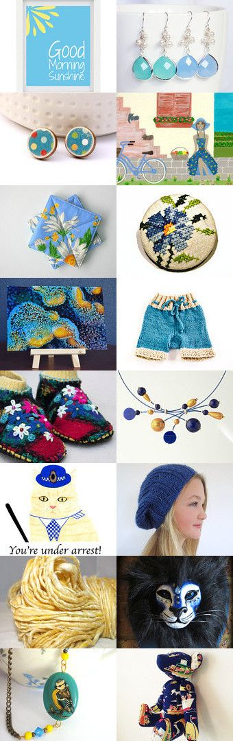 blue sky and sunshine.... by Sue on Etsy--Pinned with TreasuryPin.com