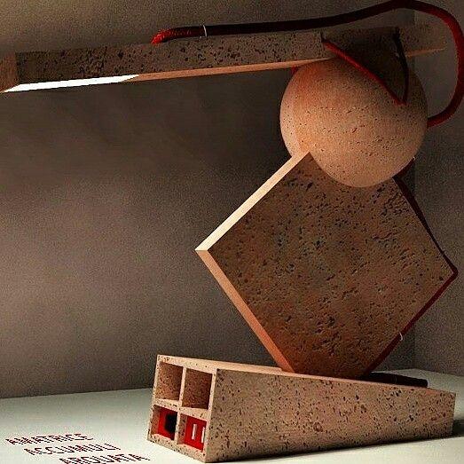 """GRU Lamp. Ceramic lamp. Light Design. Lampada in ceramica, realizzata in occasione del concorso """"Design alla ri-scossa"""" indetto da Harcome.  Classificata tra i primi 10."""