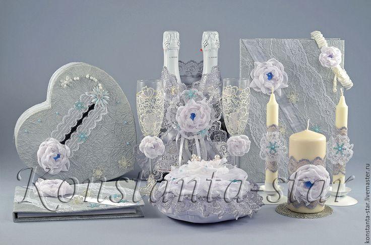 Купить Свадебные аксессуары для зимней свадьбы, Серебро - свадебные украшения, зимняя свадьба, свадьба зимой