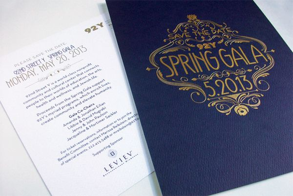 92Y Spring Gala Save the Date postcard by Christie Morrison, via Behance