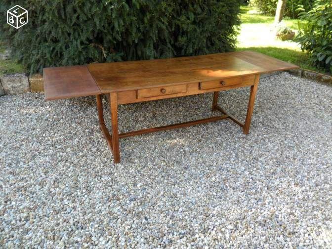 table de ferme ancienne avec 2 rallonges table table. Black Bedroom Furniture Sets. Home Design Ideas