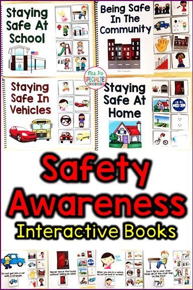 These interactive books are PERFECT for helping special education students better understand how to be safe. Safety awareness is a crucial life skill, yet it often alludes my students with autism and multiple disabilities. These adapted books are ideal for special education classrooms, self-contained classes, speech therapy, social workers, students with autism and life skills classrooms.