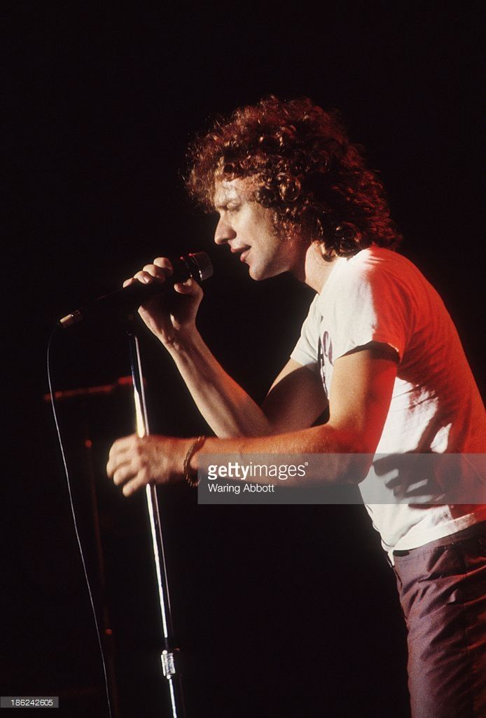 Lou Gramm, lead singer for the rock group Foreigner, performing live at New Haven Veterans Memorial Coliseum on October 24, 1979 in New Haven, Connecticut.