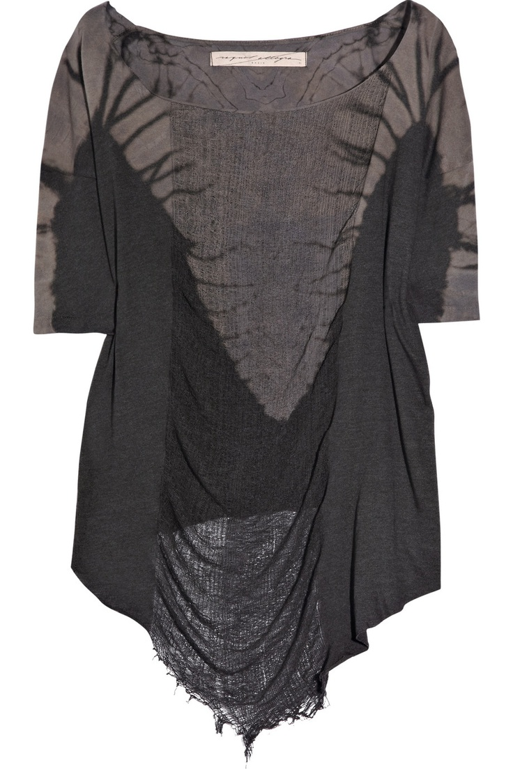 Danny zuko black t shirt - Raquel Allegra Cotton Jersey T Shirt