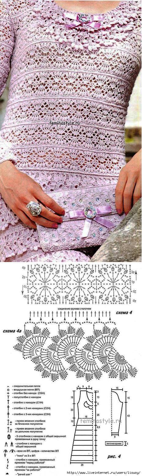 Robe et le crochet d'embrayage. | Knitting | après