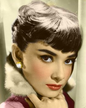 audrey hepburn~thick eyebrows were the style