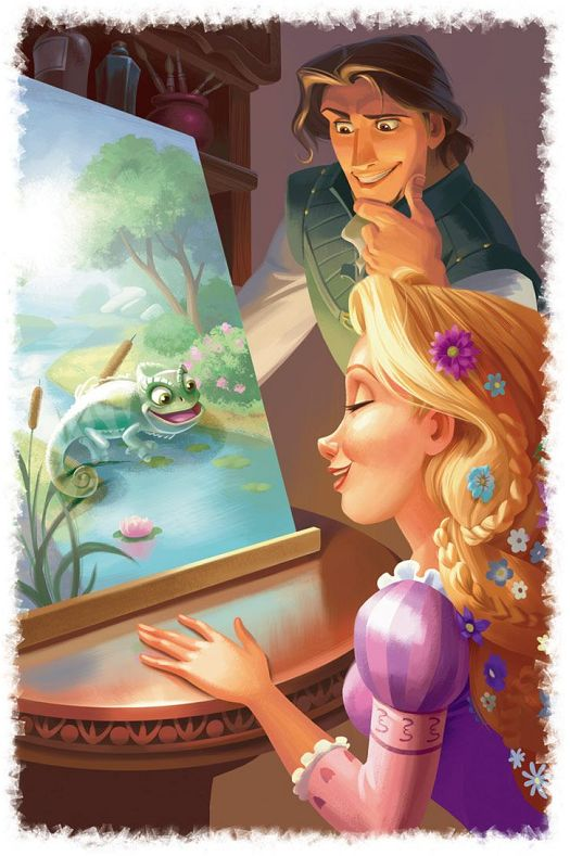 "Posting art from ""Rapunzel - A Day To Remember"" in installments. For links to all the art from the book, please look at this post. Source: Kindle/Amazon.com ""Look-Inside"""