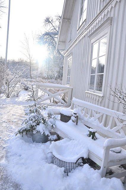 Morning after snowfall