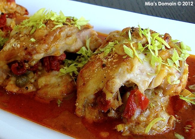 Mia's Domain | Real Food: Baked Stuffed Chicken in Roasted Tomato SauceFood Chicken, Eating Chicken, Baking Stuffed Chicken, Sauces Mia, Real Foods, Mia Domain, Roasted Tomatoes Sauces, Mia S Domain, Food Drinks Recipe