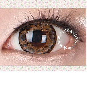 GEO LOTUS BROWN Circle Lens Fashion Colored Contacts Enlarging Korean Contact Lenses | EyeCandy's