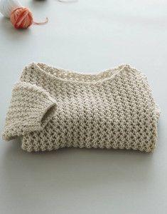 Modèle pull ajouré layette 49% laine