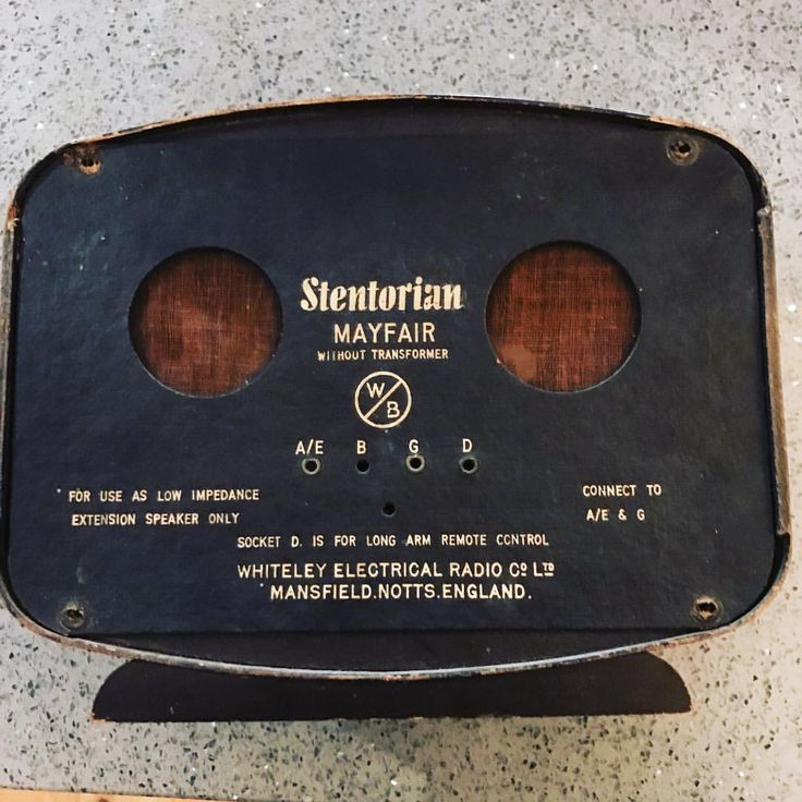 Stentorian Mayfair low impedance speaker, Whiteley Electrical Radio Co. Ltd, Notts England £10 #charityshopfind (at Hampton Common)