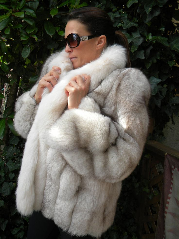 blue fox fur jacket | Fabulous fur | Pinterest | Fur jacket, Fox ...