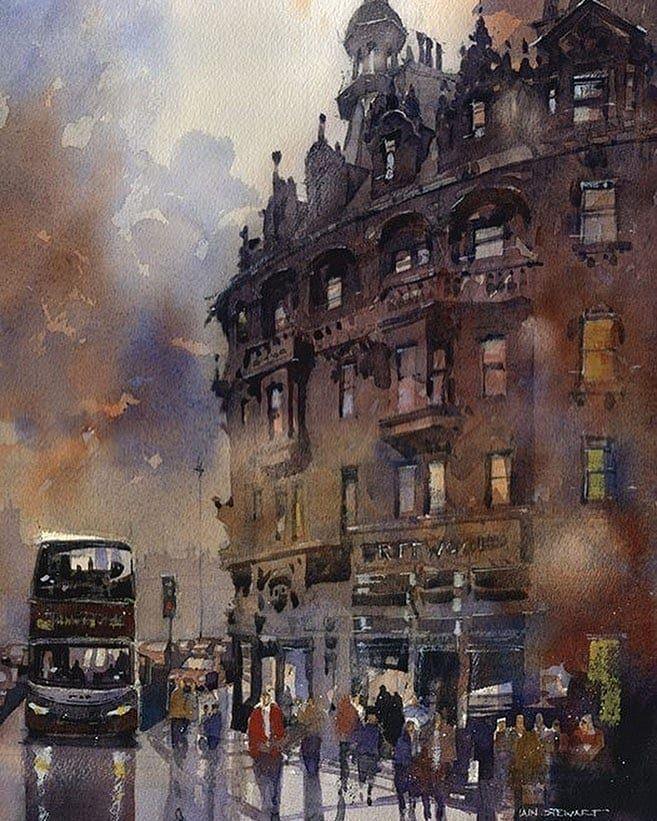 The Best Watercolor On Instagram Watercolor By Iain Stewart