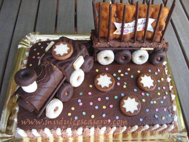 17 mejores ideas sobre pasteles de cumplea os del tren en - Bizcochos cumpleanos infantiles ...