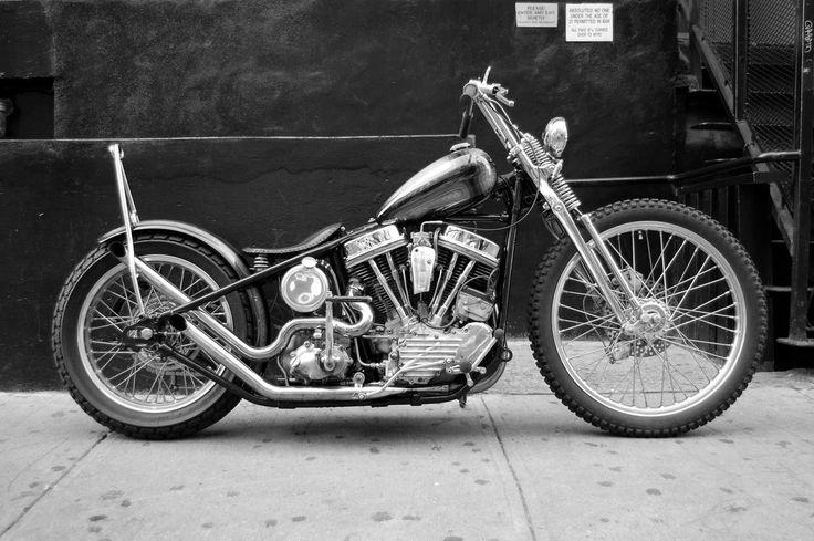 Harley davidson panhead bobber hard tail frame springer - Old school harley davidson wallpaper ...