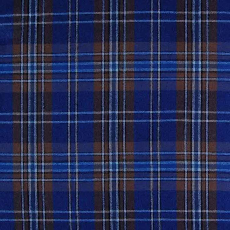 Check Wool Mix Royal 150cm