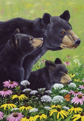 Bear Patrol Flowers Large House Flag 28 x 40 by Custom Decor. $24.95. Permanently Dyed Designs - visible on both sides of the flag. Machine Washable. Original Artwork is reproduced on 300 denier fabric for Finer Quality Reproduction. 100% All Weather Polyester stands up to the weather and is mildew and fade resistant. You will love the vibrant colors of this American made large flag. Display it with pride in your garden or front yard. This large flag measures 28 inches ...
