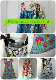 Free sewing tutorial for pillowcase dress. I need to make a ton of these. If only I had a sewing machine.
