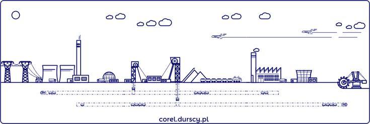 Przemysłowa kraina #corel_durscy_pl #durskirysuje #corel #coreldraw #vector #vectorart #illustration #draw #art #digitalart #graphics #flatdesign #flatdesign #icon #przemysł #fabryka #kopalnia #industry #factory #mine #kombajm #tryptyk #triptych #silesia #slask #katowice #kato