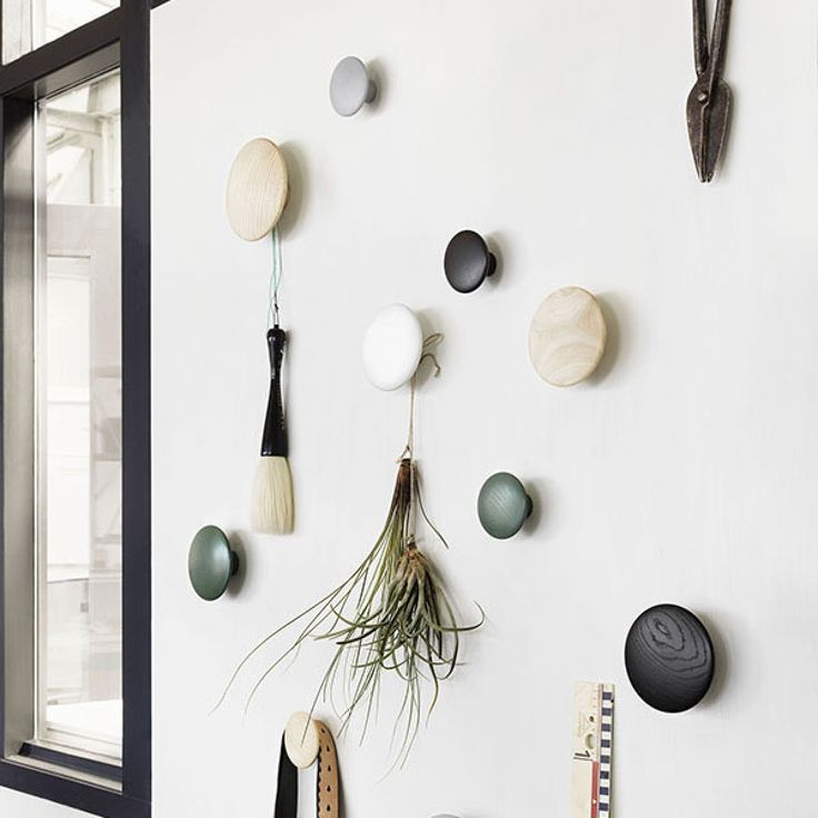 Designstuff is a proud Melbourne stockist of the Danish brand Muuto. We stock The Dots Muuto Hooks in natural oak, ash, white and grey.