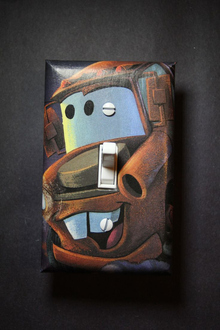 Boys car bedroom ideas - Cars Tow Mater Light Switch Plate Cover Boys Girls Child Kids Room Home Decor Bedroom Lightning