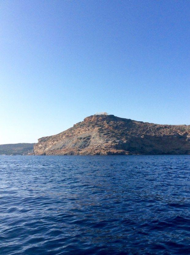 Sounio, the temple of Poseidon by the sea @eatyourselfgreek
