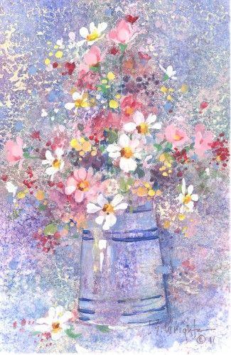 Meadow Flowers Watercolor 1800 Flowers In 2019 Watercolor Watercolor Art Watercolor Flowers