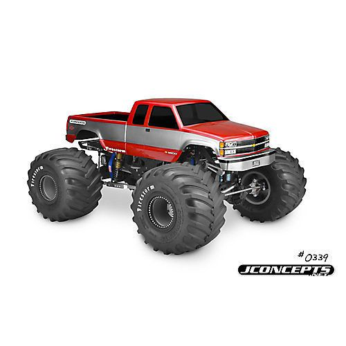 "JConcepts, Inc. 1/10 1988 Chevy Silverado Ext Cab MT, Body, Clear, 13"" Wheelbase #JConceptsInc"