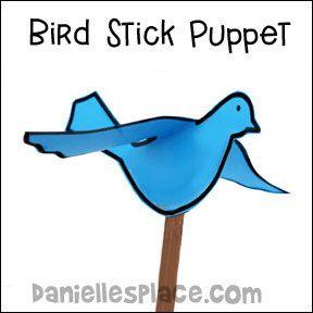 paper bird puppet craft for kids from www.daniellesplace.com