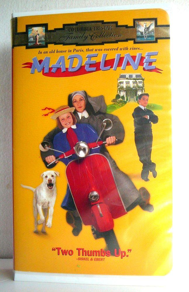 DISNEY Clamshell VHS MADELINE Video Girls Movie Paris Orphanage France McDormand