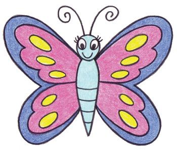 how to draw a butterfly step by step   Art Tips for Kids   How to Draw a Butterfly   Walter Foster