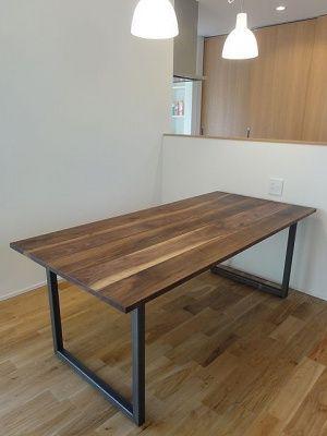 画像4: ≪テーブル天板≫【無垢 ウォールナット材/ハギ板 ラフ仕上げ/3サイズ/脚別売】
