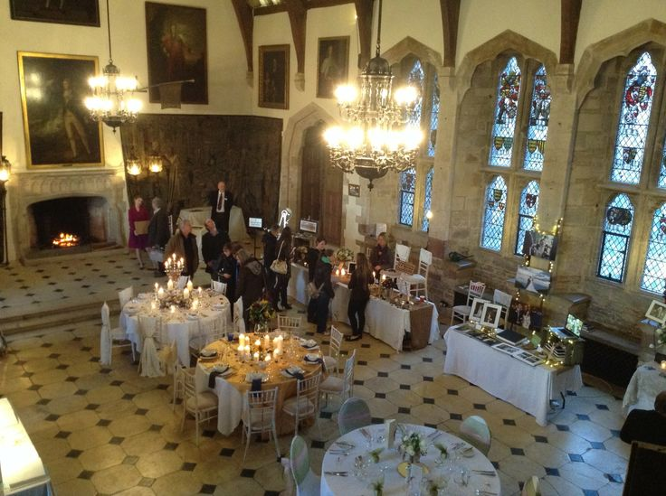 The Great Hall Set Up For Our Wedding Open Day We Had An Excellent Turn