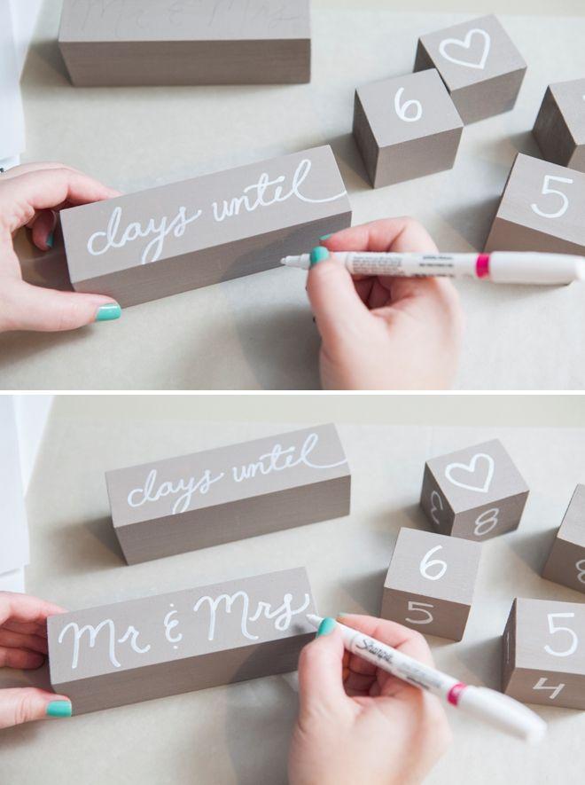 How to make Wedding Countdown Blocks.