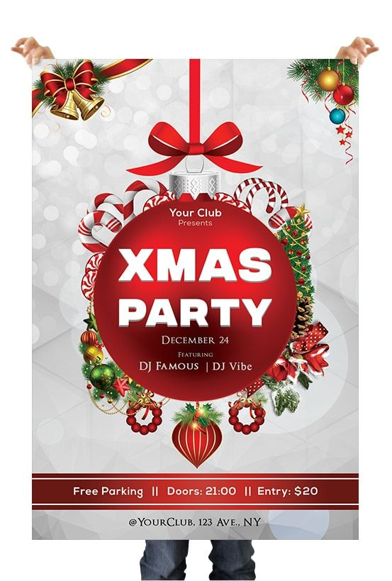 Free 2018 Christmas Party Download Free PSD Flyer Template