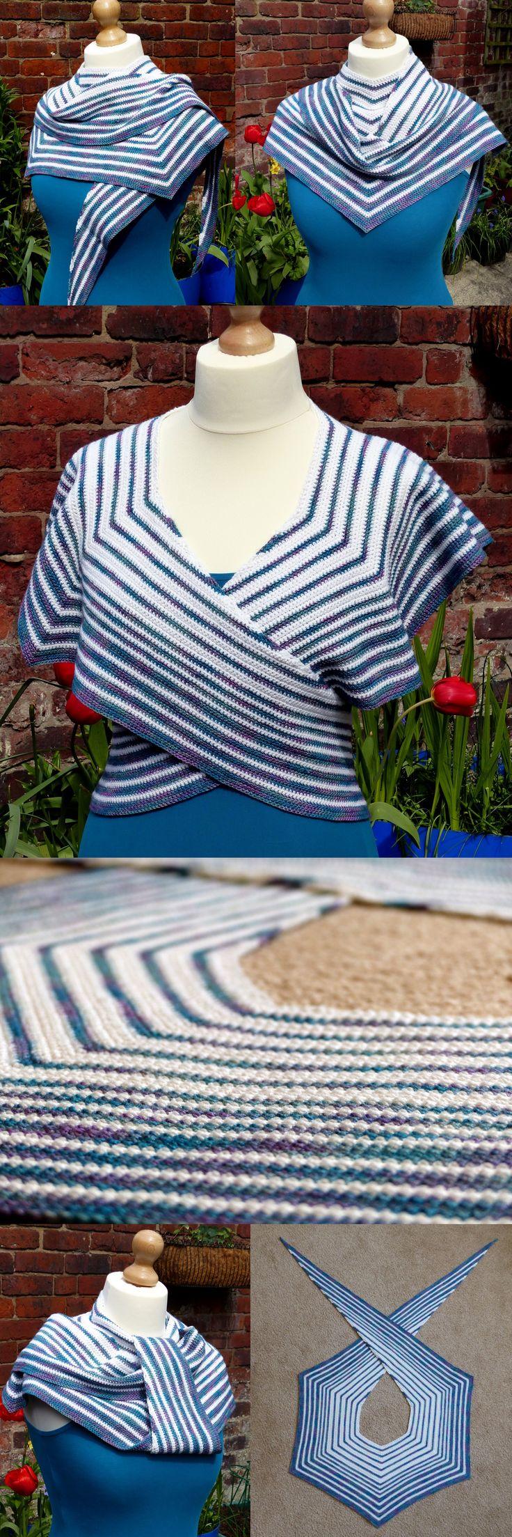 Pacific Rim Crochet Shawl By Esther Chandler - Free Crochet Pattern - (makemydaycreative)