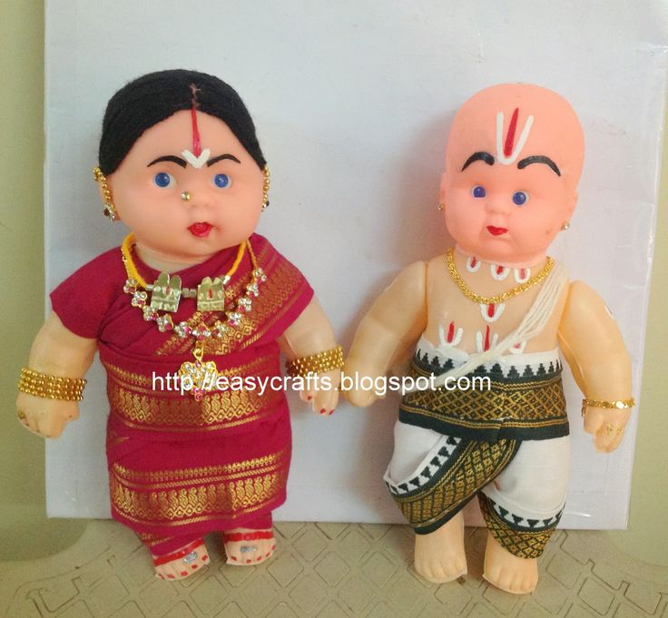 Easy Crafts - Explore your creativity: Decorated rubber dolls in traditional style..............