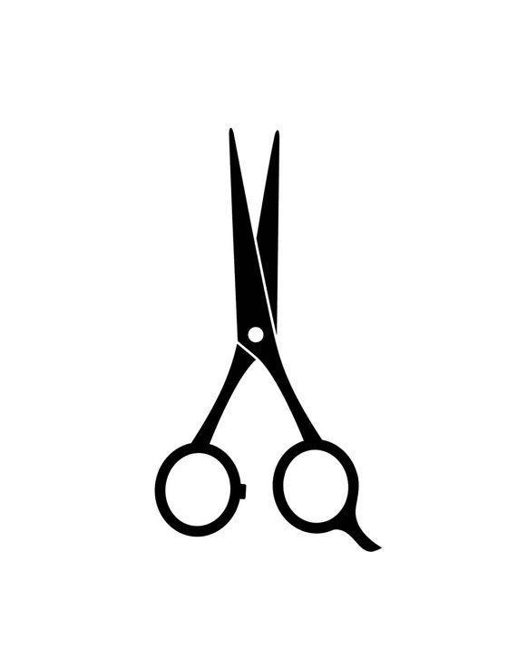 Printable A4 Digital Download Black White Scissors Art Print Hairdresser S Scissors Art Hair And Beauty Salon Scissors Tattoo