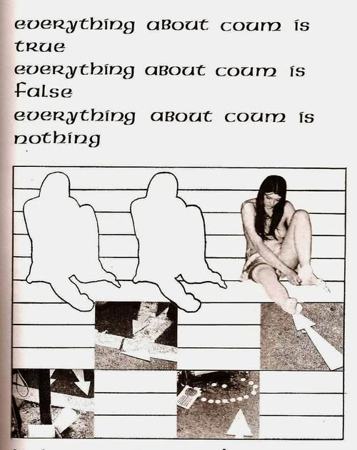 wastrelle:  COUM Transmissions, Omission Collage, 1975 from Simon Ford'sWreckers of Civilization: The Story of COUM Transmissions and Throbbing Gristle