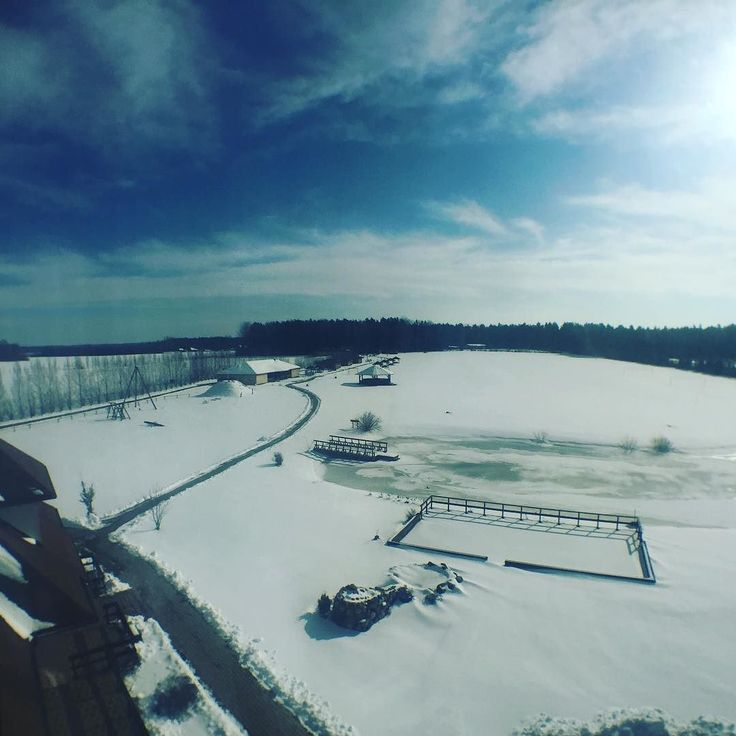 The view from the tower #winter #snow #latvia #roadtrip