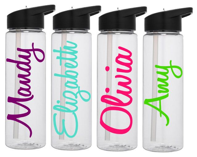 Etsy Personalised Glass Water Bottles