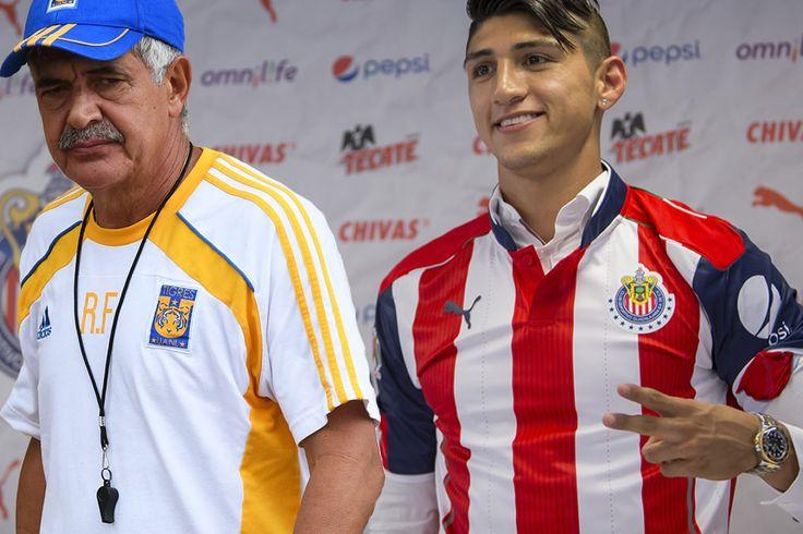 ALAN PULIDO, SIN RENCOR HACIA 'TUCA' El delantero de Chivas se reencontrará este martes en el estadio del Guadalajara con su exequipo Tigres.