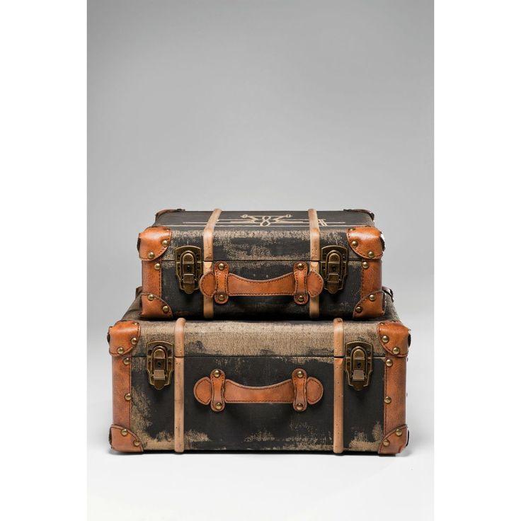 Διακοσμητικά Ράφια Suitcase Aviation Διακοσμητικά ράφια βαλίτσα, με τεχνητή παλαίωση. Υλικό: MDF, λινό, σίδηρο, polyurethane.