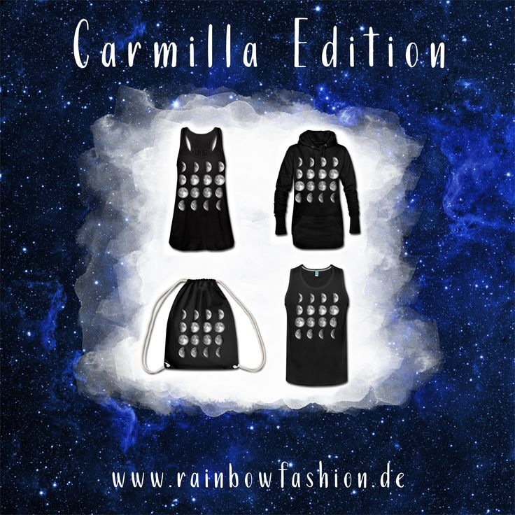 Carmilla - die lesbische Vampirin ist gerade überall. Als Herbst-Special gibt es auf Rainbowfashion die Carmilla-Fan Edition. Das Mondzyklus Shirt hat Carmilla selbst immer wieder in der international erfolgreichen, lesbischen Webserie an. Check it out!